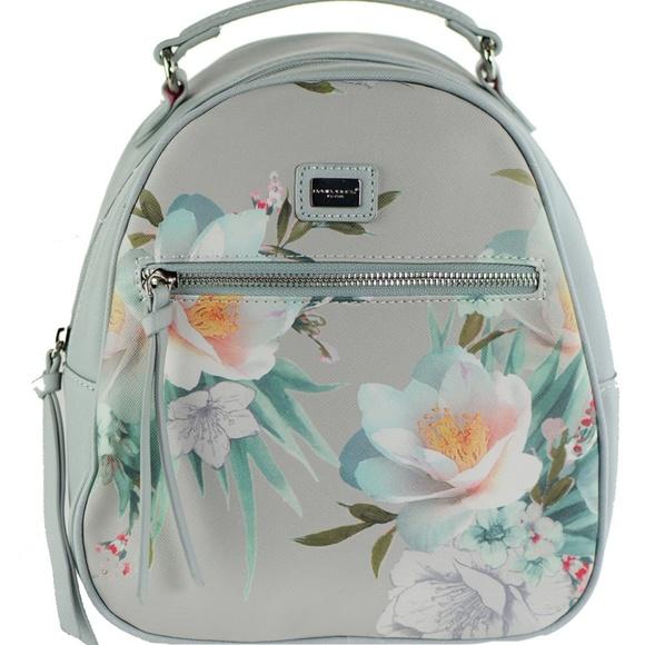 cbd6347ca928 DAVID JONES Bags   Faux Leather Mini Flower Backpack   Poshmark